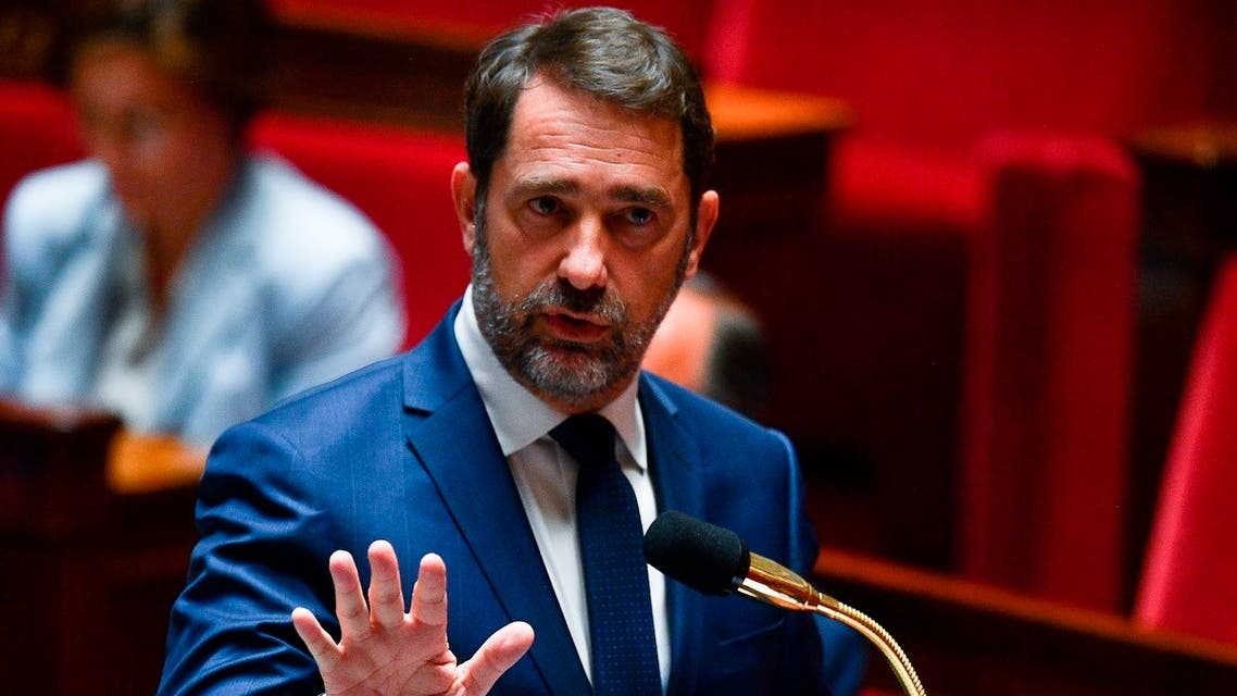 French Interior Minister Christophe Castaner speaks in Paris on May 26, 2020. (File photo: AP)