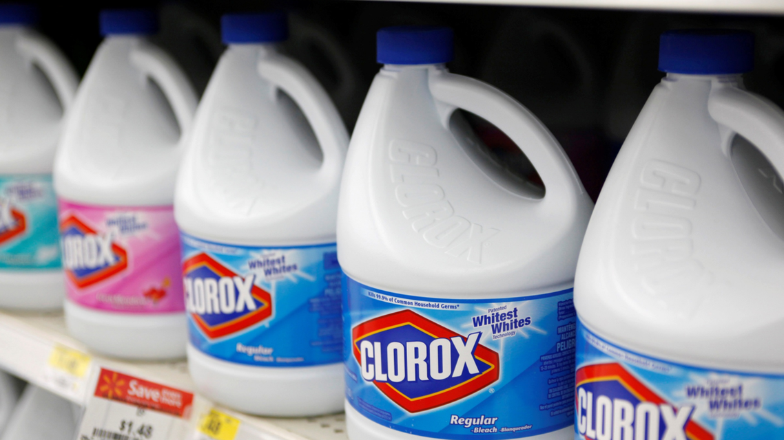 Bottles of bleach for sale in a Wal-Mart in Arkansas, US. (File photo: Reuters)