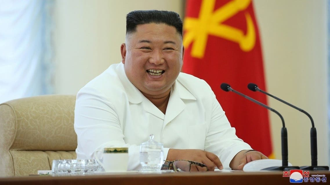 North Korean leader Kim Jong Un takes part in the 13th Political Bureau meeting of the 7th Central Committee of the Workers' Party of Korea (WPK) in this image released June 7, 2020. (KCNA via Reuters)