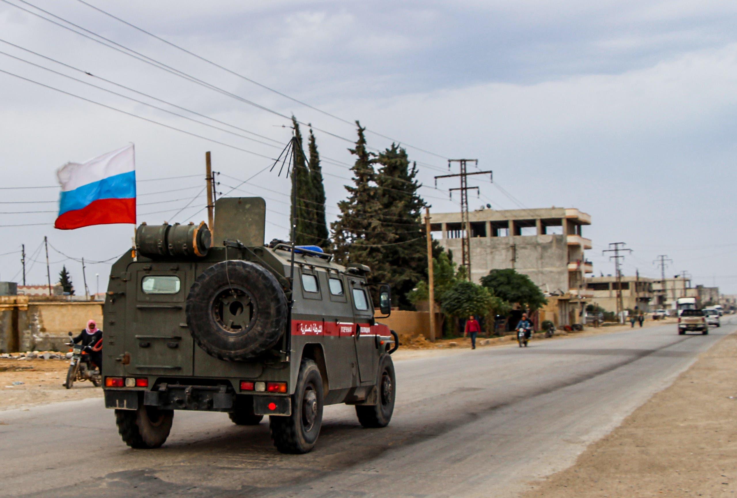 دورية روسية في حلب (أرشيفية)