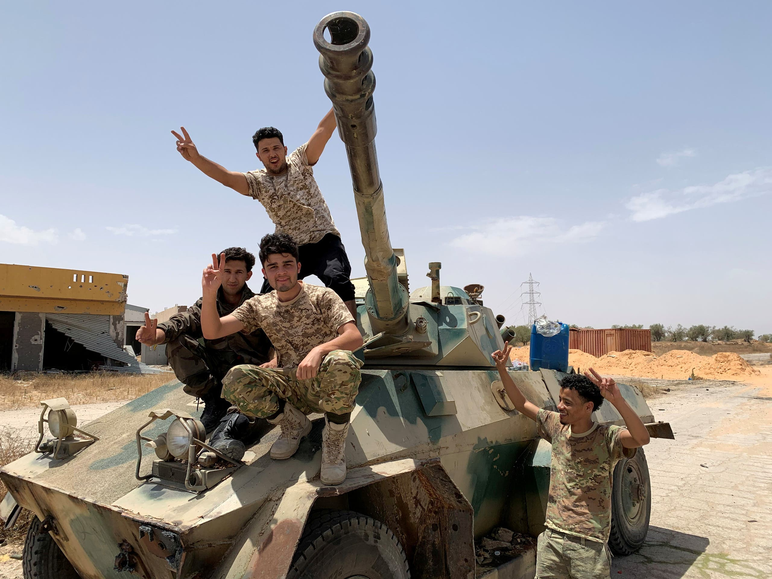 Fighters loyal to Libya's GNA in Tripoli, Libya, June 4, 2020. (Reuters)