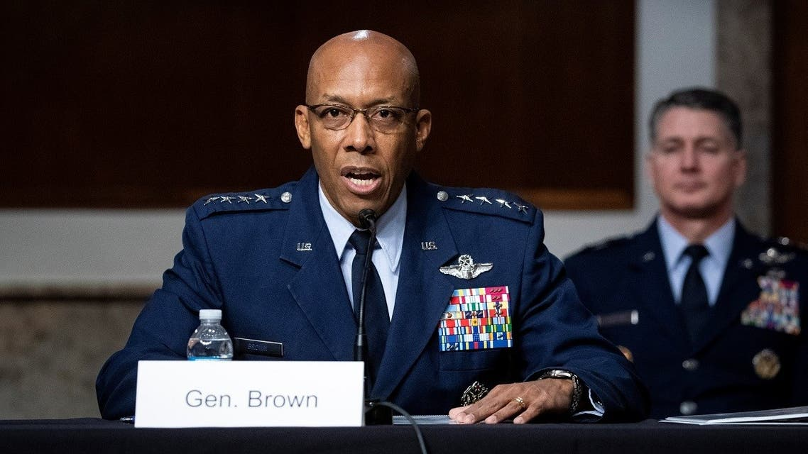 General Charles Brown Jr. speaks during a Senate Armed Services Committee confirmation hearing on Capitol Hill in Washington, DC, US May 7, 2020. (Reuters)