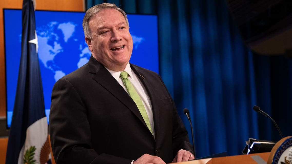 US Secretary of State Mike Pompeo speaks the press at the State Department in Washington, DC, on May 20, 2020.