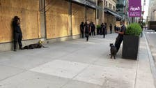 Watch: Saks shields flagship NY store with razor wire, security dogs from looters