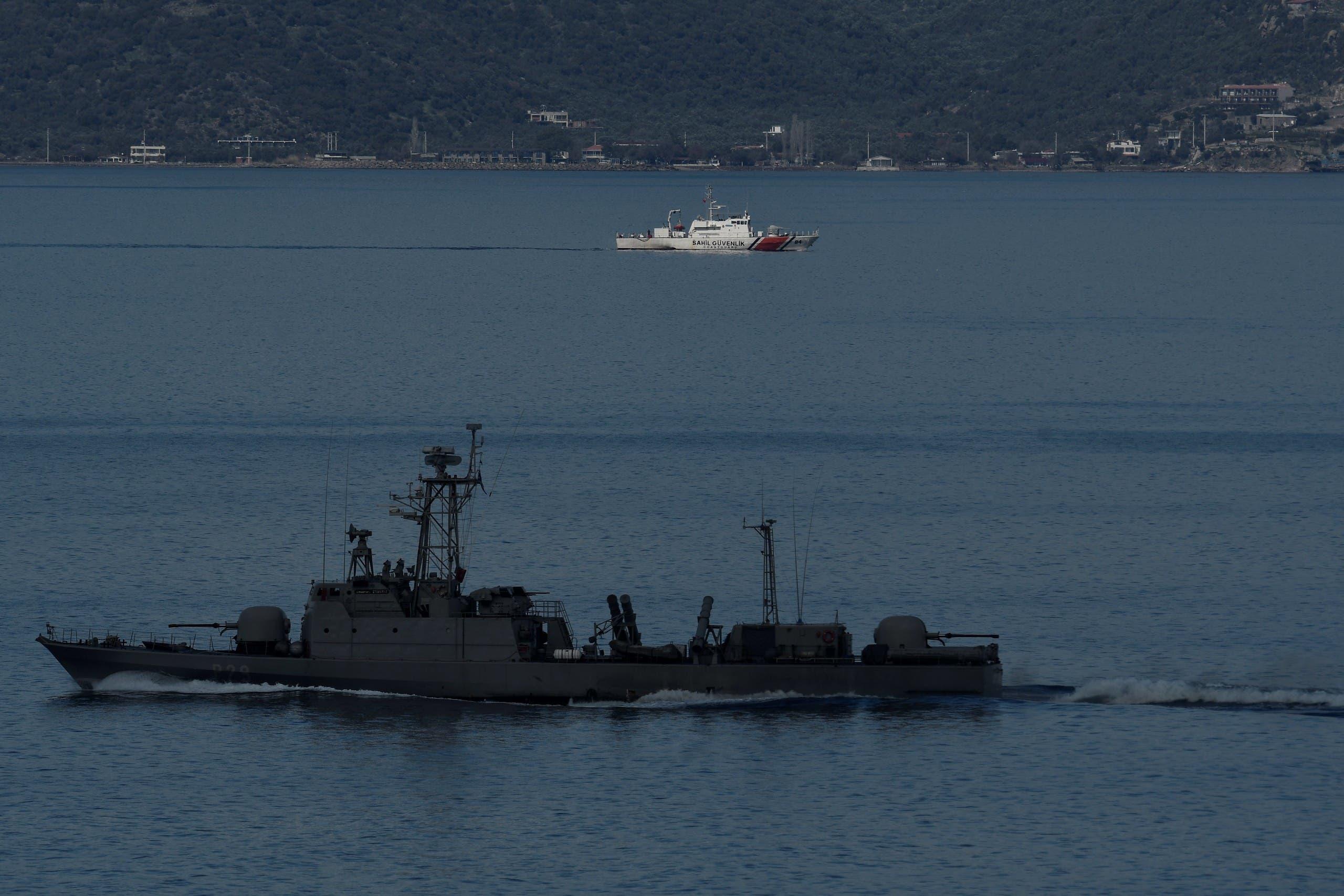 سفينة حربية تركية(أرشيفية- فرانس برس)