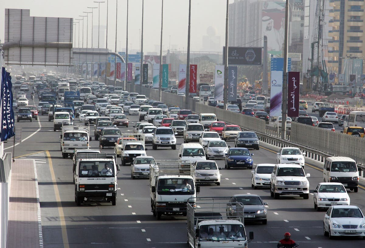 Traffic moves along Sheikh Zayed road in the heart of Dubai. (File photo: AFP)