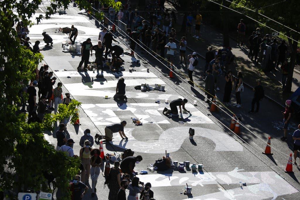 مظاهرات سياتل - فرانس برس 11 يونيو