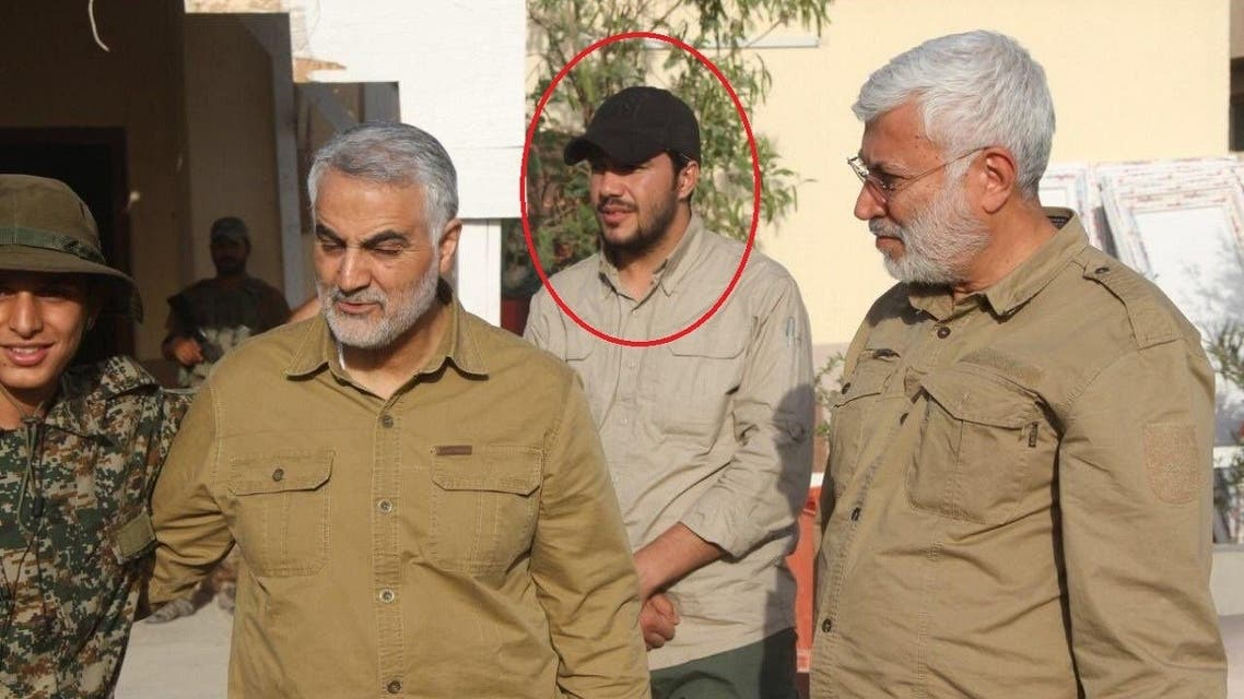 Mahmoud Mousavi-Majd appears in a photo with Qassem Soleimani and Abu Mahdi al-Mohandes. (Twitter)