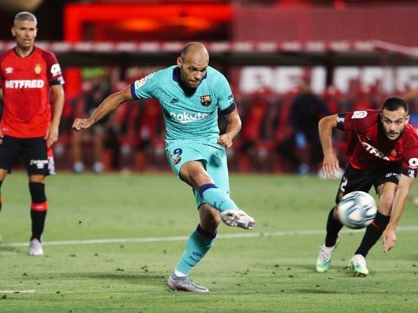بريثويت سعيد بتسجيل هدفه الأول مع برشلونة