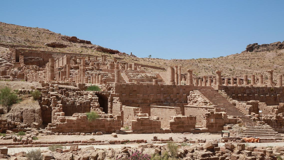 Jordan's ancient city of Petra is pictured empty of tourists on June 1, 2020, amid the COVID-19 pandemic crisis. (AFP)