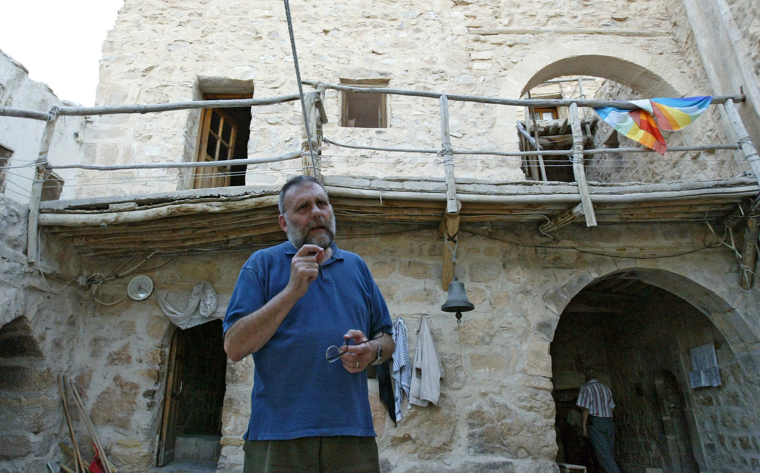 Italian Father Paolo Dall'Oglio at the historic Monastery of Mar Musa, located north of Damascus on July 11, 2007.  (AP)