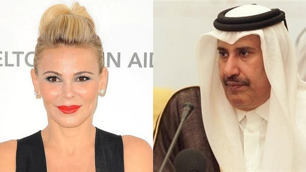 Diana Jenkins (l) and Sheikh Hamad bin Jassim bin Jaber al-Thani in a combined photo. (Supplied)