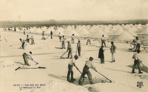 صورة لعمليات استخراج الملح أواخر القرن 19