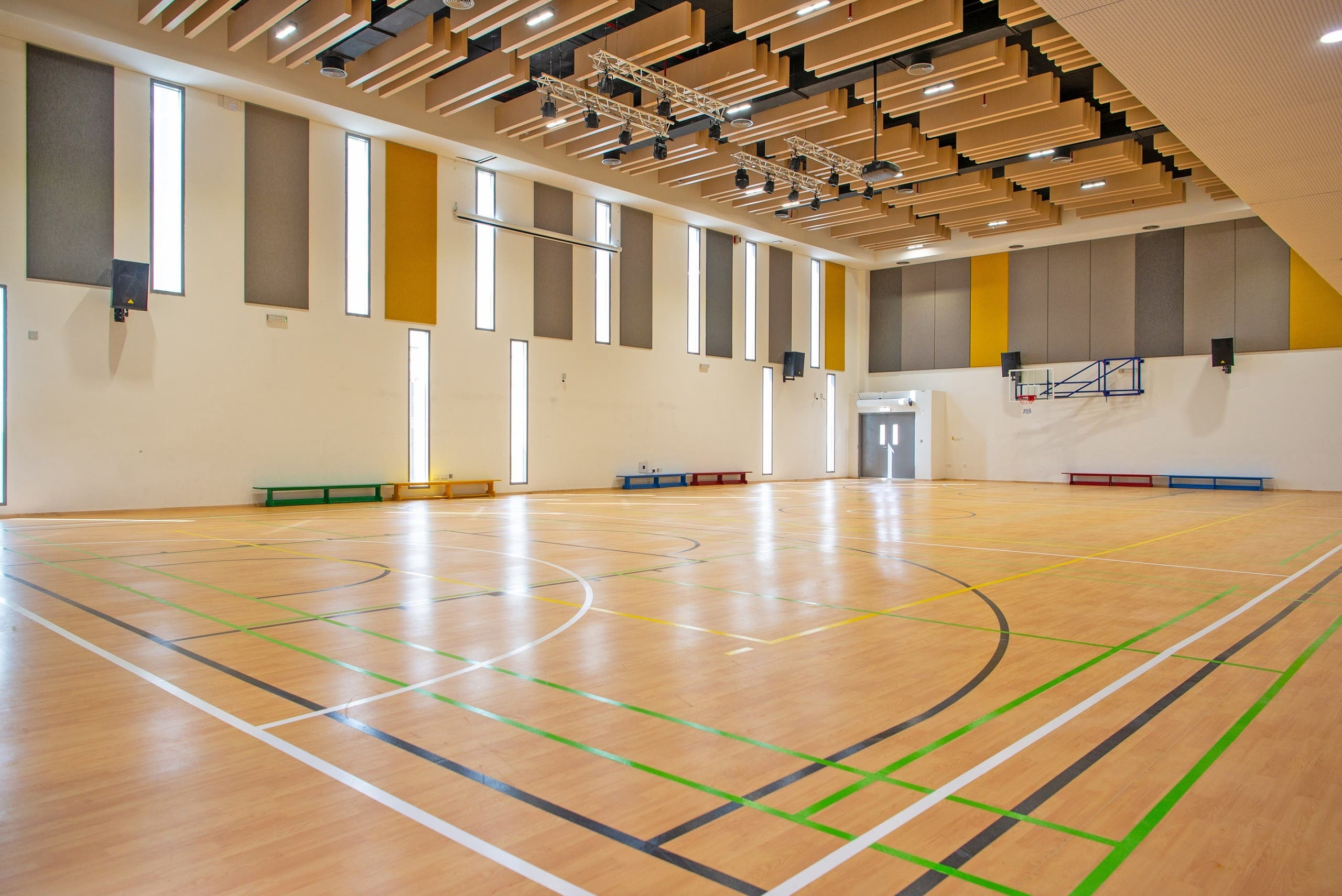 A Dubai academy basketball court (Dubai Sports Council).