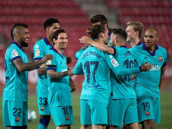 برشلونة يعود من التوقف بفوز كبير على مايوركا