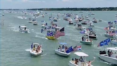بمناسبة عيد ترمب.. سكان فلوريدا ينظمون مواكب بحرية