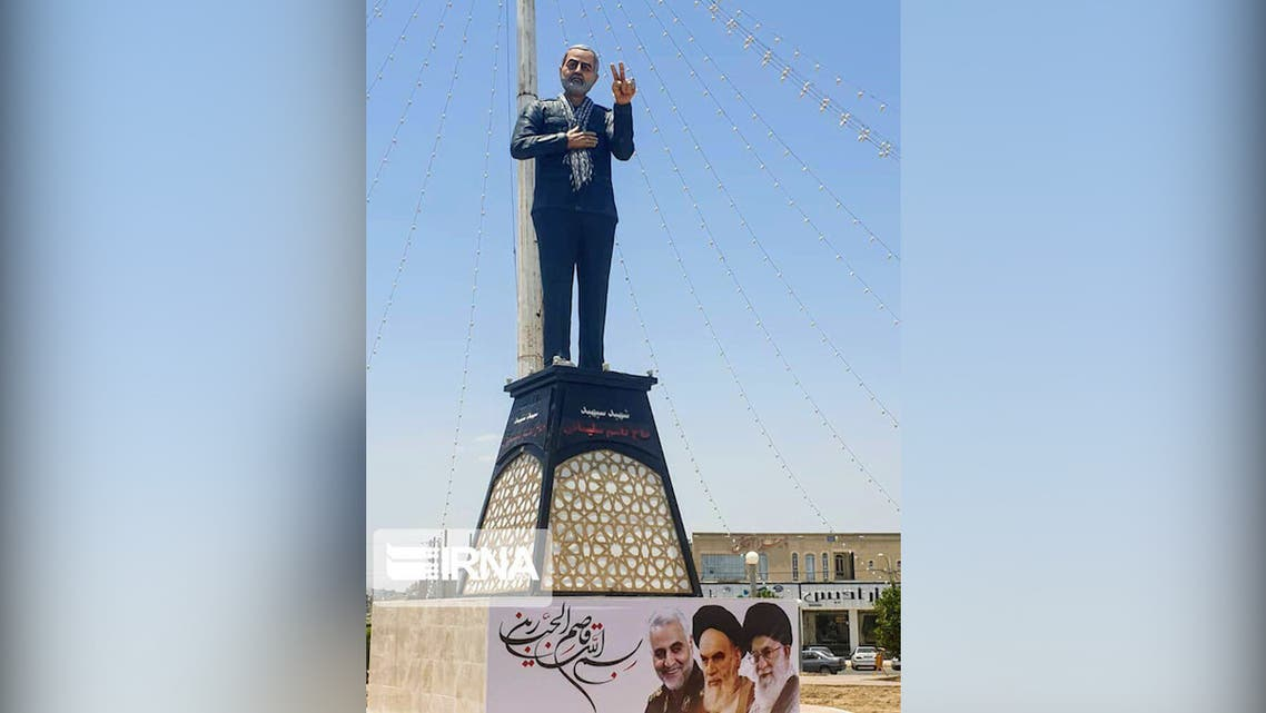 Iran unveils new Soleimani statue in his home province of Kerman