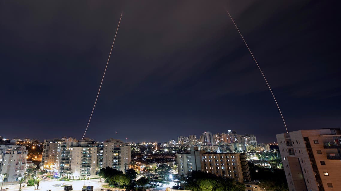 Iron Dome anti-missile system fires interception missiles as rockets are launched from Gaza towards Israel, in the city of Ashkelon, Israel, February 23, 2020. REUTERS/ Amir Cohen