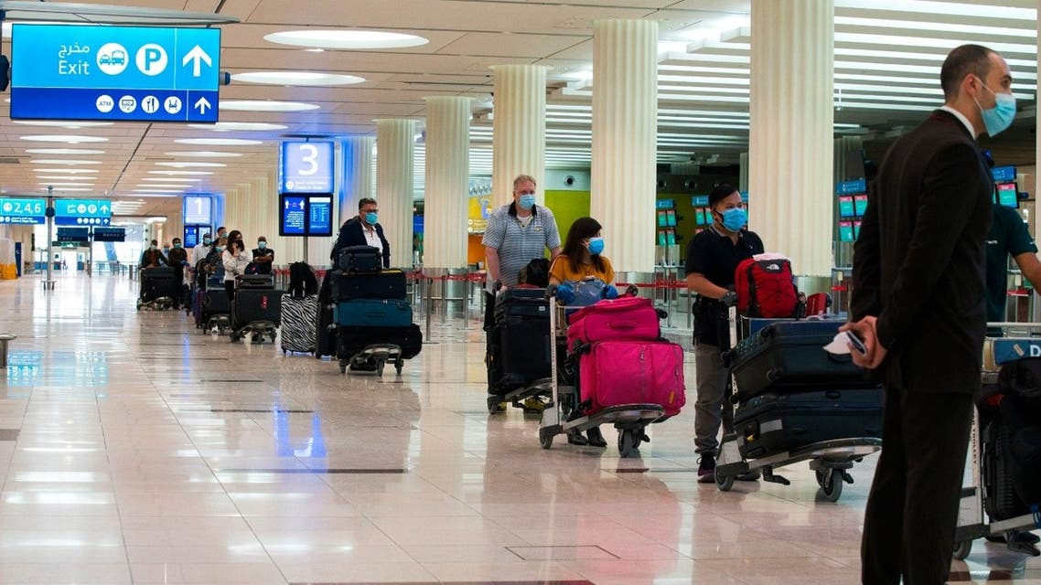 طيران مطار دبي كورونا