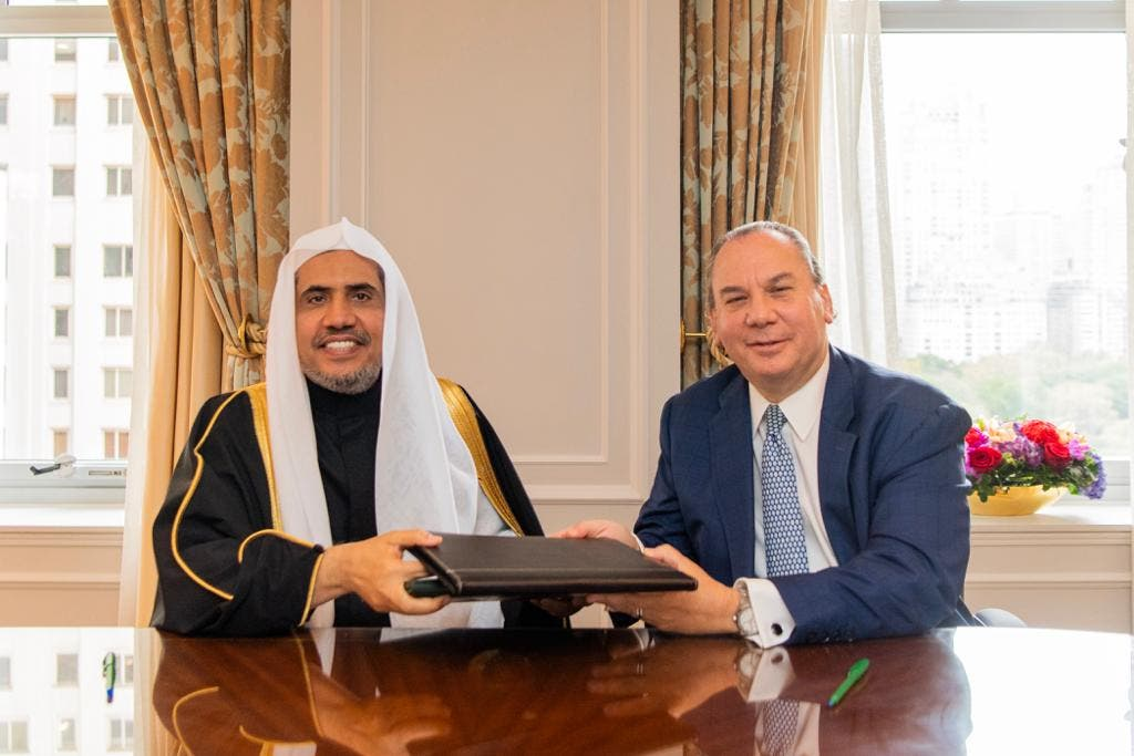 Dr. Mohammad Al-Issa and Rabbi Marc Schneier on October 23, 2019. (Supplied)