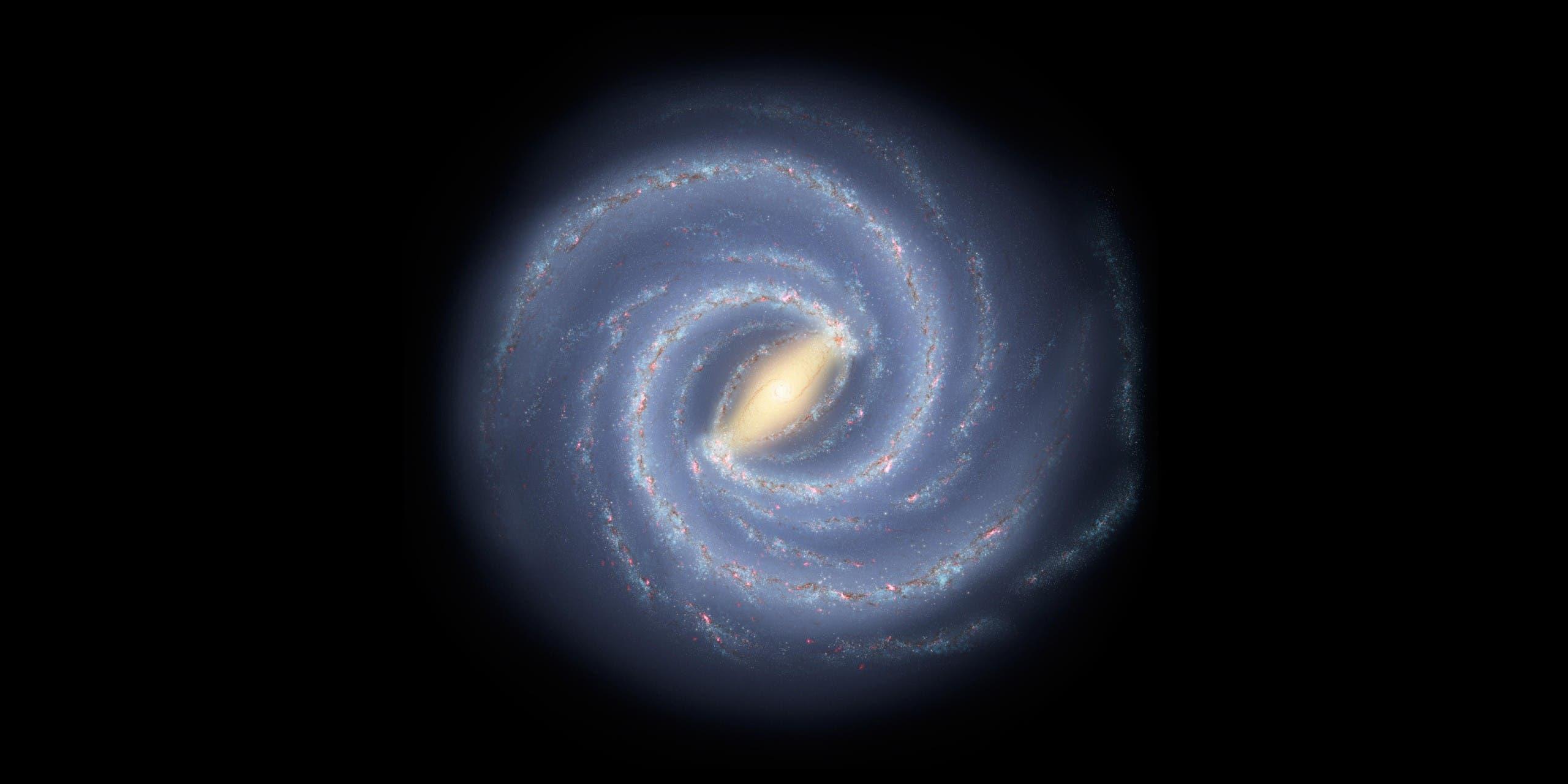 A NASA concept image of the Milky Way galaxy. (File photo: AFP)