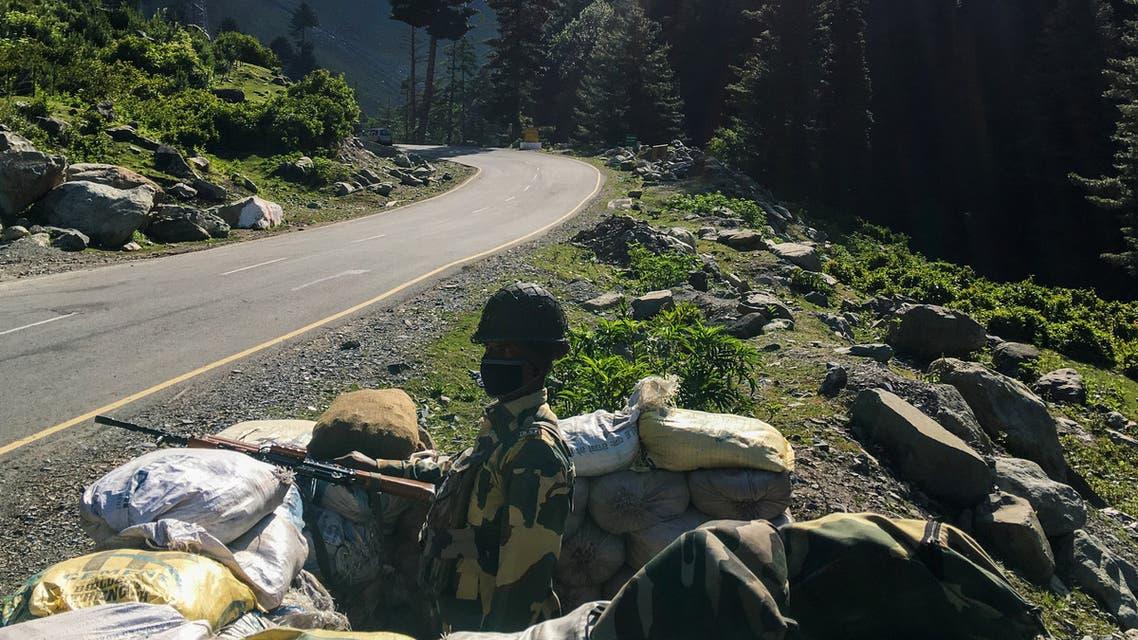 من حرس الحدود الهندي (الحدود الصينية الهندية - فرانس برس)