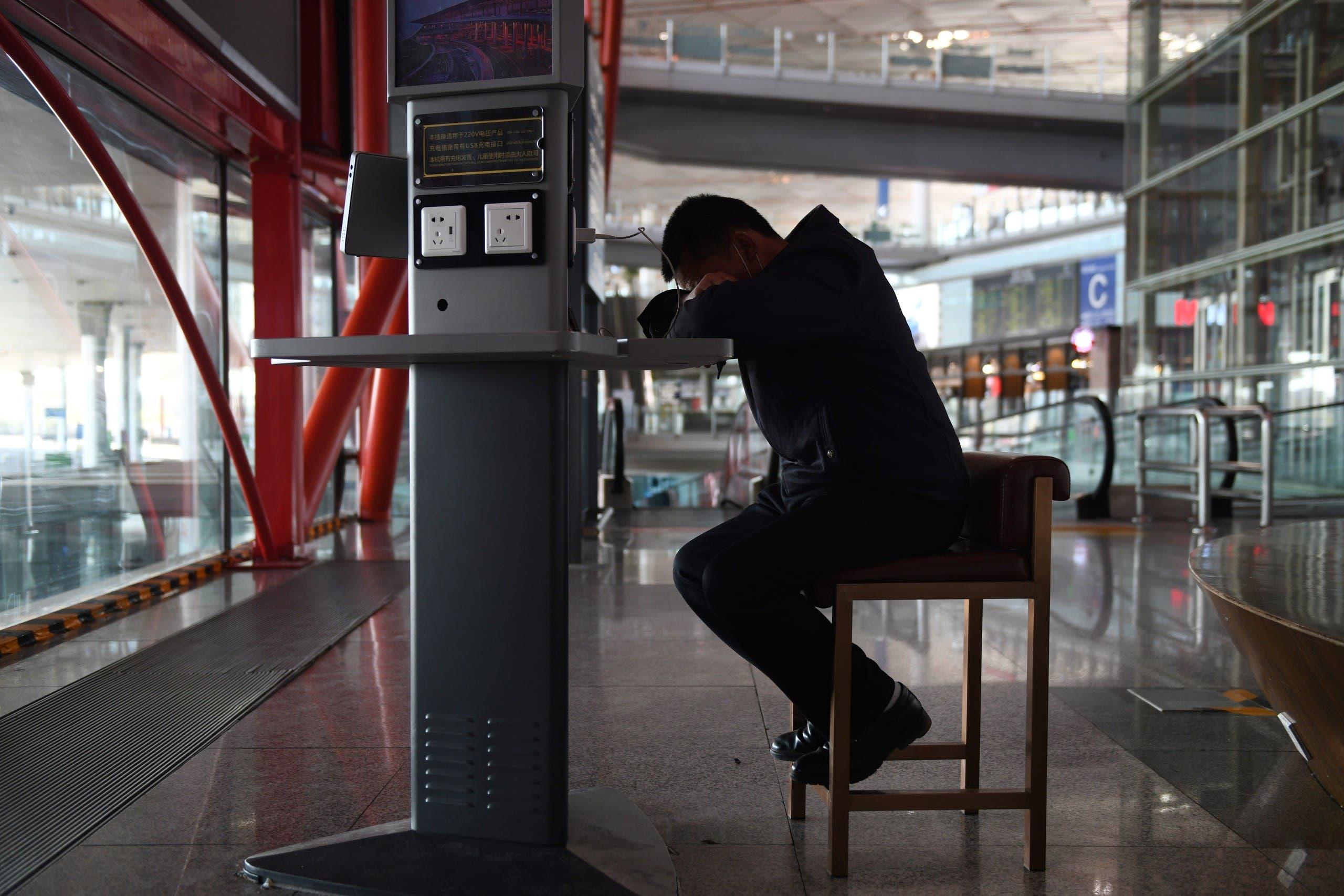 من مطار بكين (أرشيفية- فرانس برس)