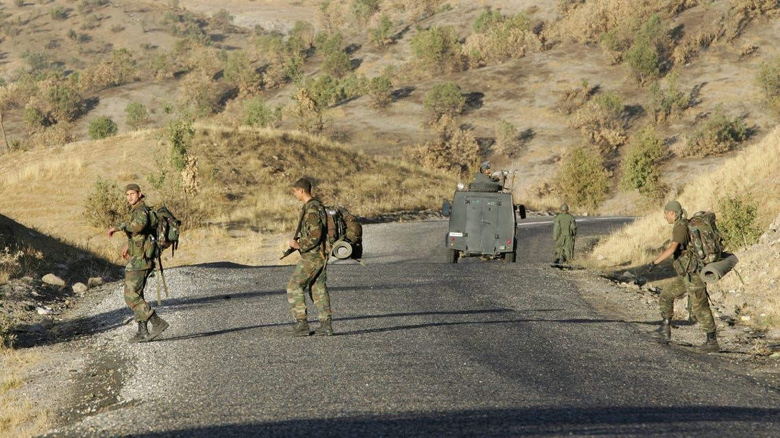 عناصر من الكوماندوز التركي على الحدود العراقية التركية (أرشيفية- فرانس برس)