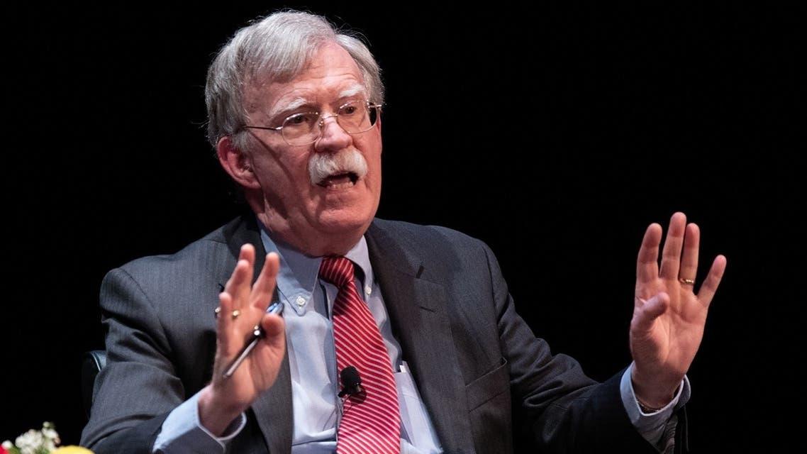 In this file photo taken on February 17, 2020, former National Security Advisor John Bolton speaks at Duke University in Durham, North Carolina. (AFP)