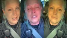 شاهد شرطية أميركية استغرب ابن ترمب بكاءها بسبب سندويتش