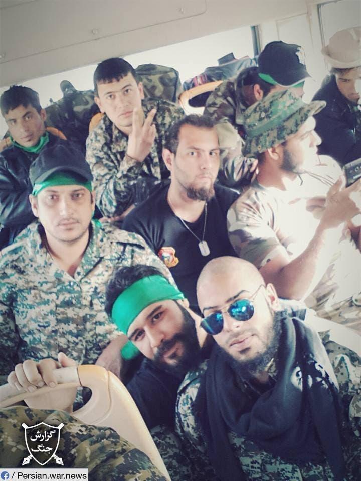 ميليشيات افغانية في طائرة ماهان