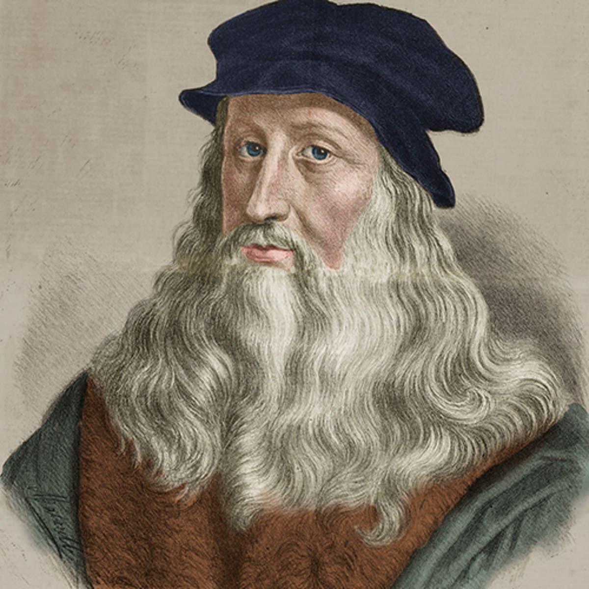 رسم تخيلي لشخصية ليوناردو دا فينشي