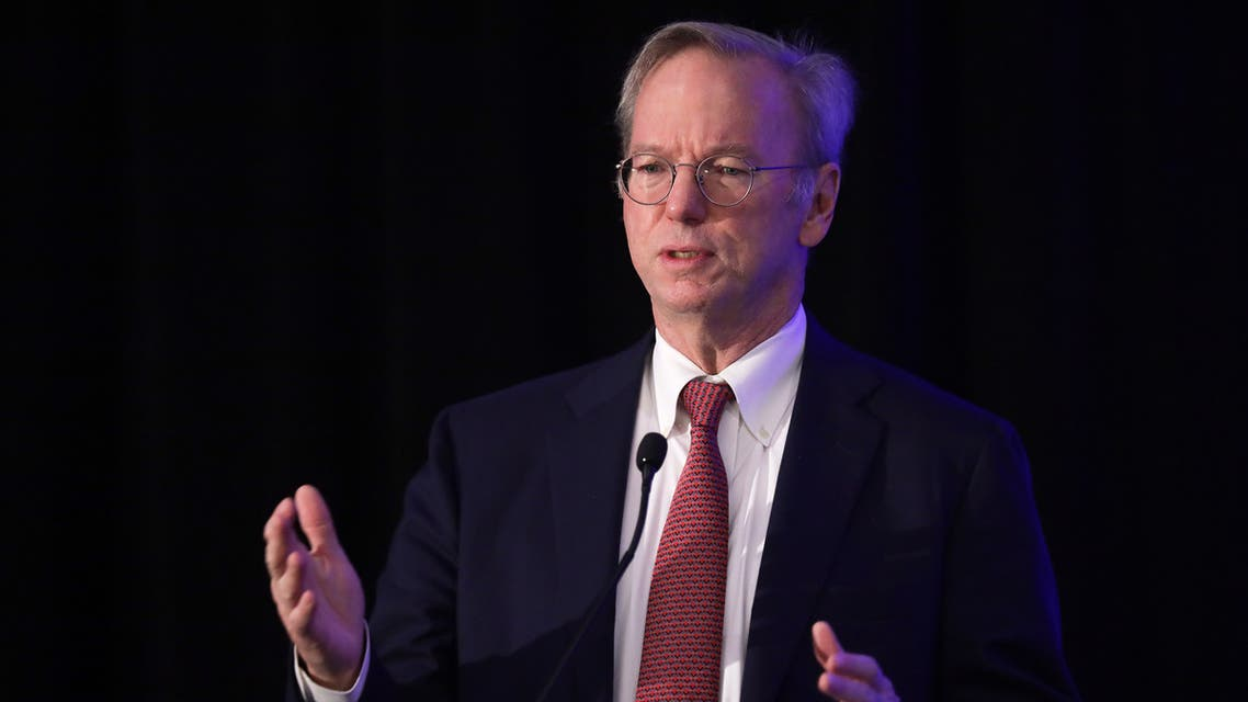 Eric Schmidt speaks during a National Security Commission on Artificial Intelligence (NSCAI) conference November 5, 2019 in Washington, DC. (AFP)