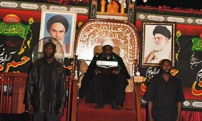 الشيخ زكزاكي في حسينية له في نيجيريا