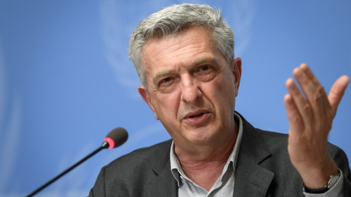 United Nations High Commissioner for Refugees Filippo Grandi gives a press conference on the annual UNHCR report on world's refugees and displaced persons on June 16, 2020 at the United Nations offices in Geneva. (Fabrice Coffrini/AFP)
