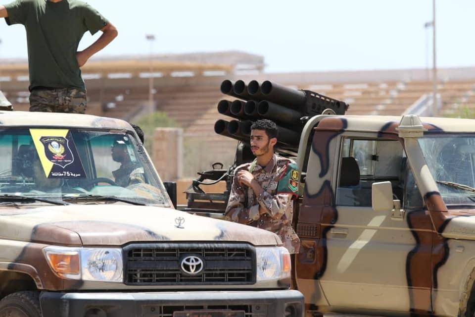 القوات الخاصة بالجيش الوطني الليبي التي اتجهت نحو مصراتة والهلال النفطي