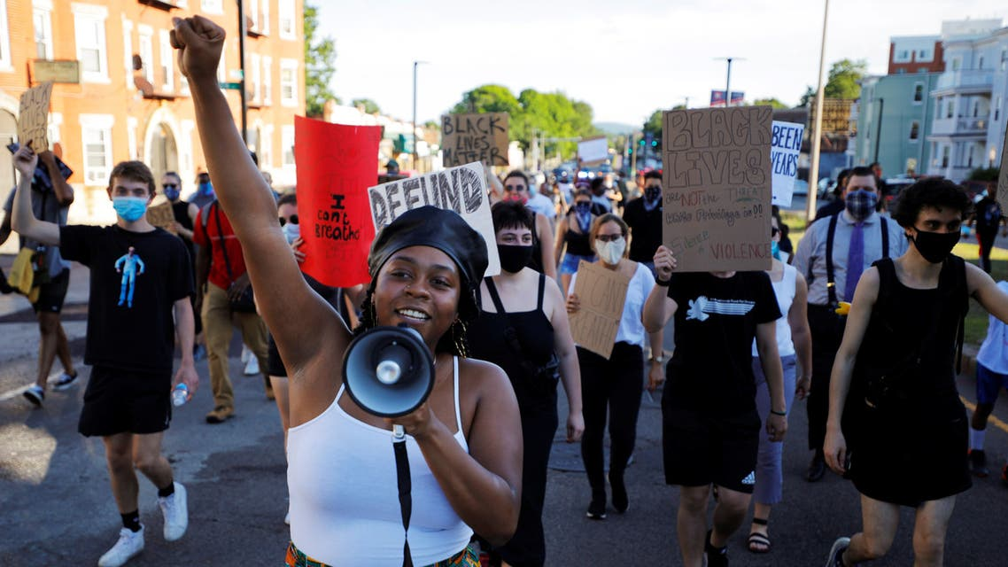 Shannon Greaves helps lead a Juneteenth Awareness Walk in Boston, Massachusetts, June 18, 2020. (File photo: Reuters)