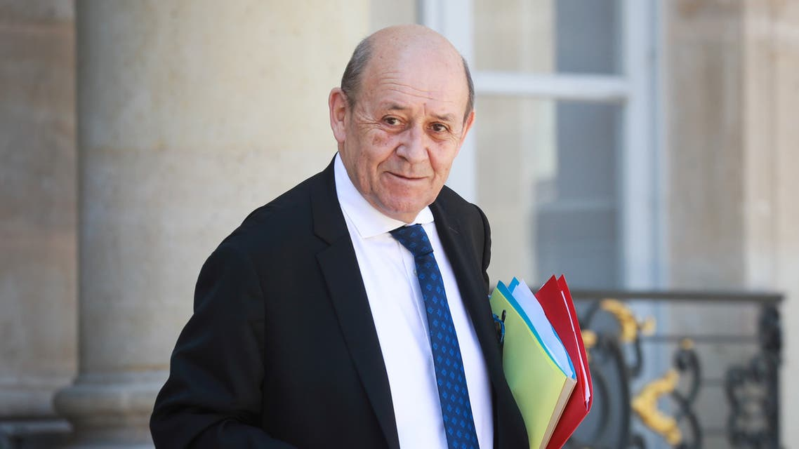 French Foreign Affairs Minister Jean-Yves Le Drian leaves the Elysee Presidential Palace after a weekly cabinet meeting, in Paris, France May 27, 2020 as France eases lockdown measures taken to curb the spread of the coronavirus disease COVID-19. Ludovic Marin/Pool via REUTERS