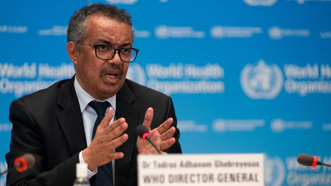 Tedros Adhanom Ghebreyesus, Director General of the World Health Organization (WHO) attends the signing of the memorandum of understanding between WHO and the WHO Foundation in Geneva, Switzerland, May 27, 2020. (Reuters)