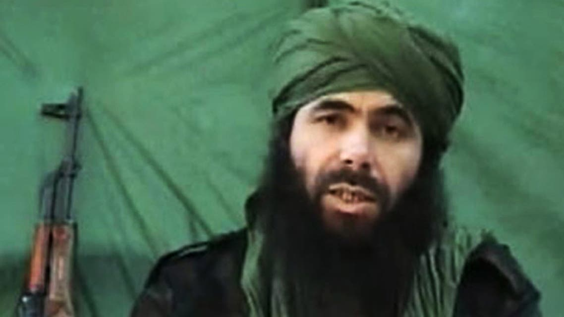 (FILES) This undated file handout photo taken on July 26, 2010 apparently shows Al-Qaeda in the Islamic Maghreb (AQIM) chief Abdelmalek Droukdel, aka Abu Musab Abdul Wadud speaking at an unknown location. Al-Qaeda's North Africa wing has confirmed that its Algerian chief Abdelmalek Droukdel is dead, according to SITE, the US watchdog for extremist groups. After nearly two weeks, AQIM (Al-Qaeda in the Islamic Maghreb) has officially acknowledged the death of its long time leader Droukdel (Wadud), with a video eulogy narrated by AQIM's head of media, pledging continued battles against occupying French forces and others in N. Africa and the Sahel, SITE director Rita Katz said on June 18, 2020 on her Twitter account.