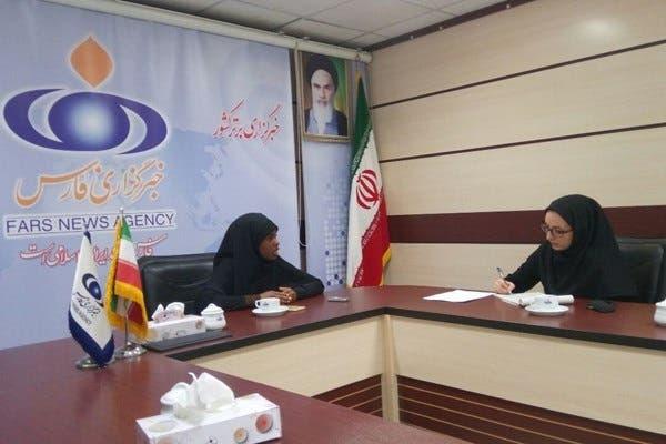بديعة زكزاكي في مقابلة مع وكالة فارس للانباء التابعة للحرس الثوري الإيراني