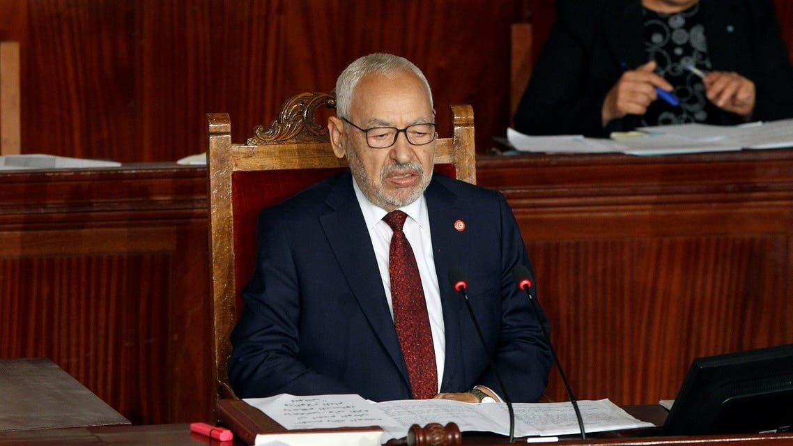 Rached Ghannouchi, leader of Tunisia's moderate Islamist Ennahda party, attends the parliament's opening with a session to elect a speaker, in Tunis. (Reuters)