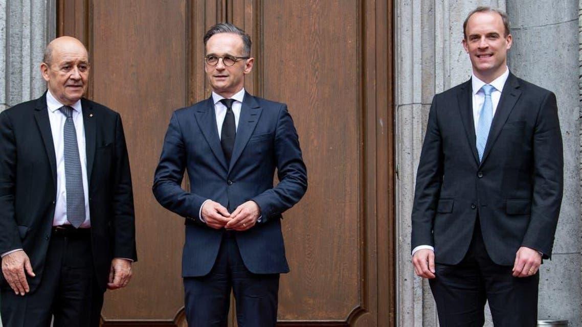 برطانیہ۔ جرمنی اور فرانس کے وزرائے خارجہ