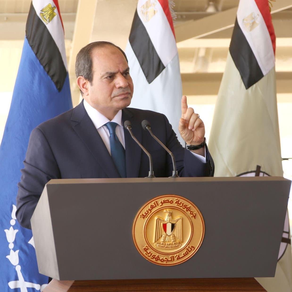 السيسي: أي تدخل مصري مباشر بليبيا بات يحظى بشرعية دولية