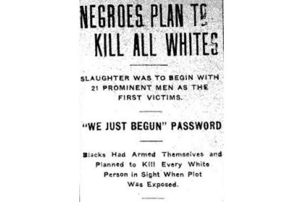 صورة لعنوان بجريدة أركنساس غازيت حول الحادثة