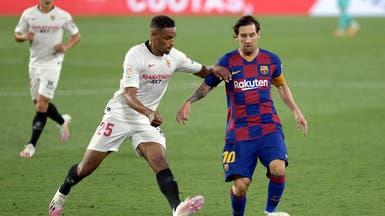 إشبيلية يسدي خدمة للريال ويتعادل مع برشلونة