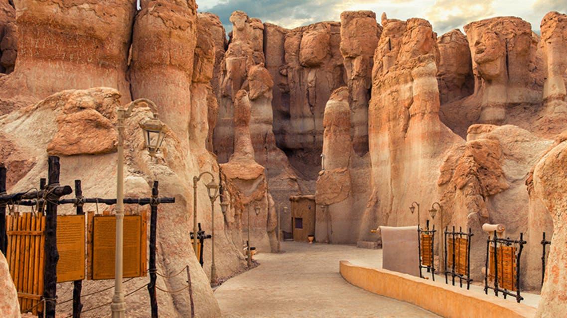 the limestone hills of Al Qarah in Al Ahsa, Saudi Arabia. (Saudi Ministry of Tourism)