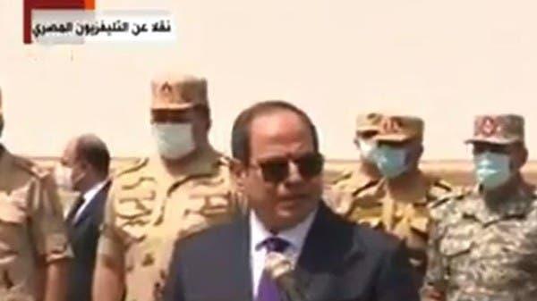السيسي يشيد بدور الجيش المصري في تحقيق الاستقرار