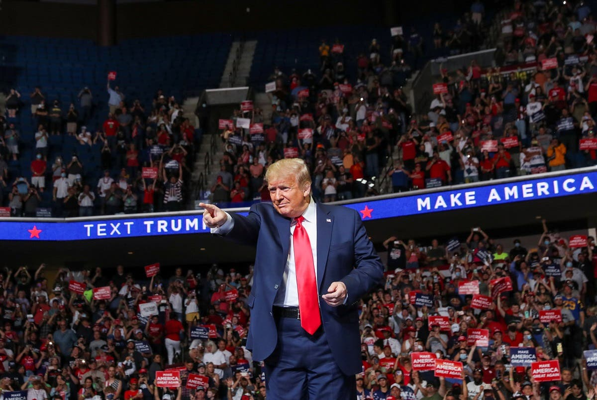 US President Donald Trump holds his first re-election campaign rally on June 20, 2020,  in Tulsa, Oklahoma. (Reuters)