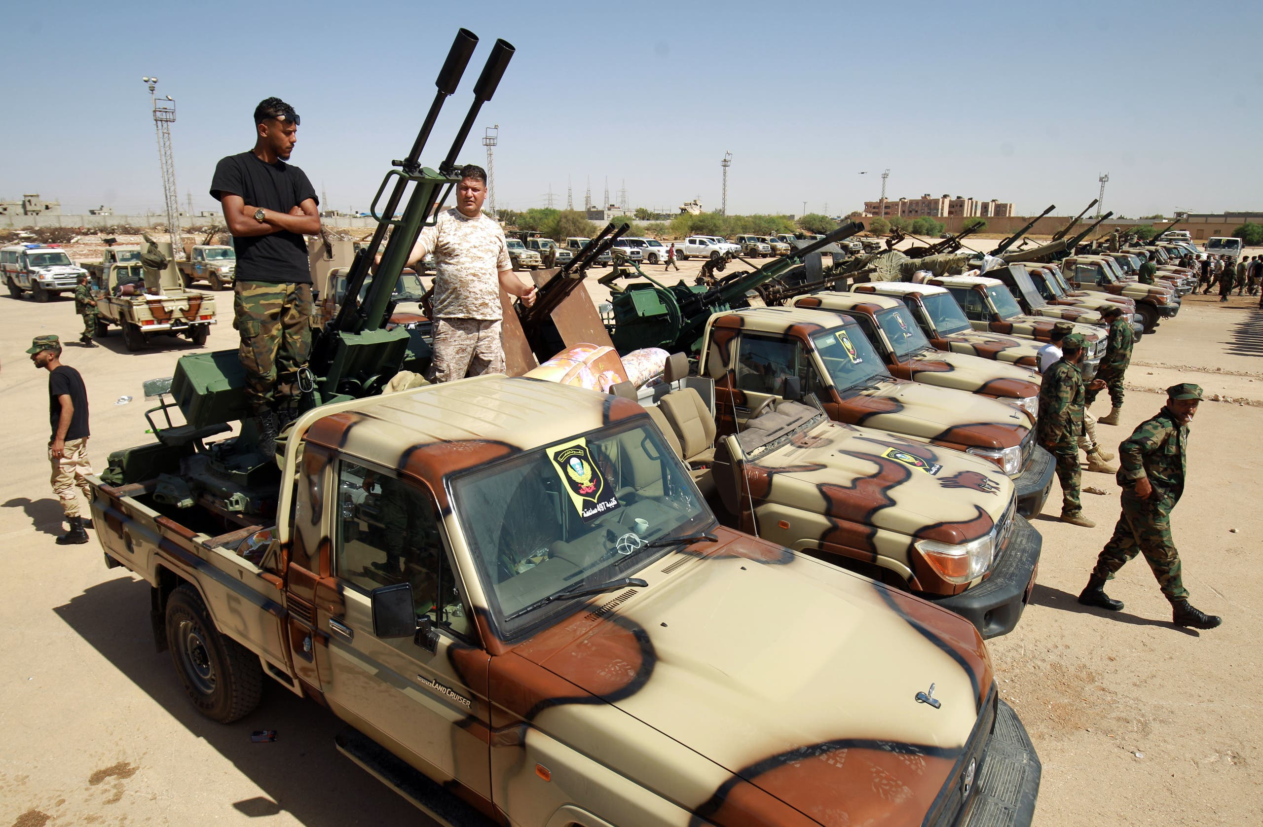 عناصر من الجيش الوطني الليبي (أرشيفية من فرانس برس)